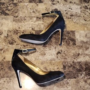 Sam Edelman Ciara black suede stiletto pumps